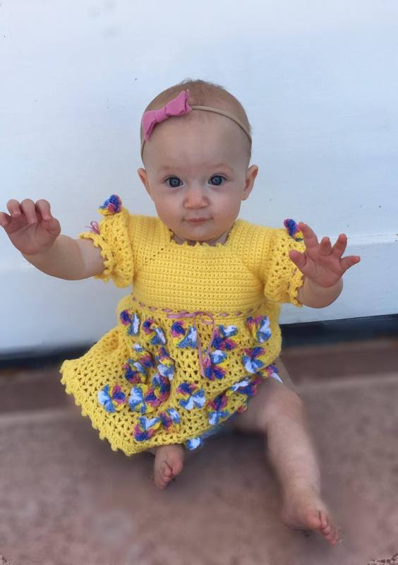 Butterfly Baby Dress Crochet Pattern