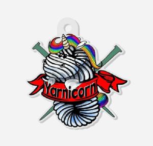 Yarnicorn Keychain