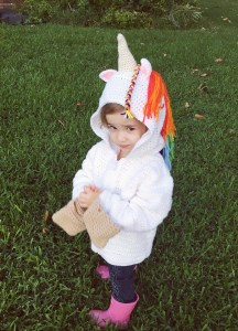 Children's Unicorn Hoodie Crochet Pattern, Sizes 4, 6, and 8