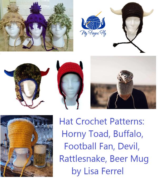 Horned Earflap Hat Crochet Patterns