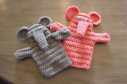 Elephant Hand Puppet Crochet Pattern
