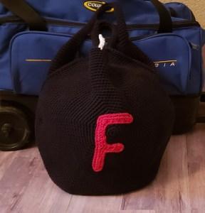 F-Bomb Bowling Ball Bag Crochet Pattern