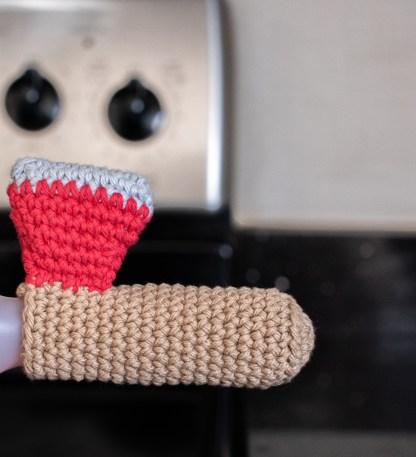 Firefighter Axe Panhandler Crochet Pattern