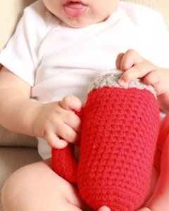 Flashlight Shaped Baby Rattle Crochet Pattern