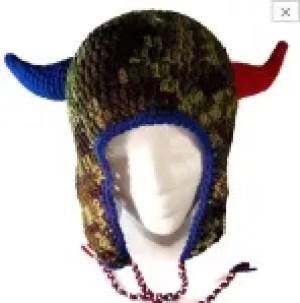 Horned Earflap Football Hat Crochet Pattern (adult size)