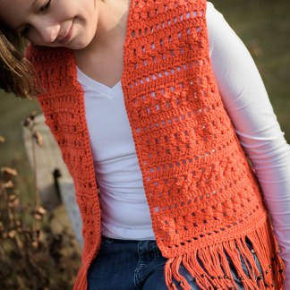 Layla Vest Crochet Pattern - Girls' Sizes 10, 12, 14
