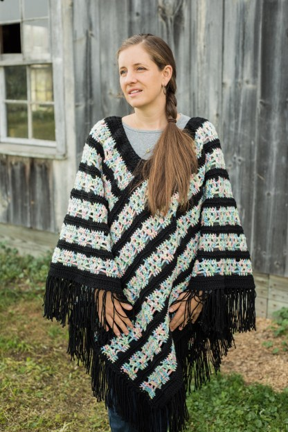 Skull Poncho Crochet Pattern