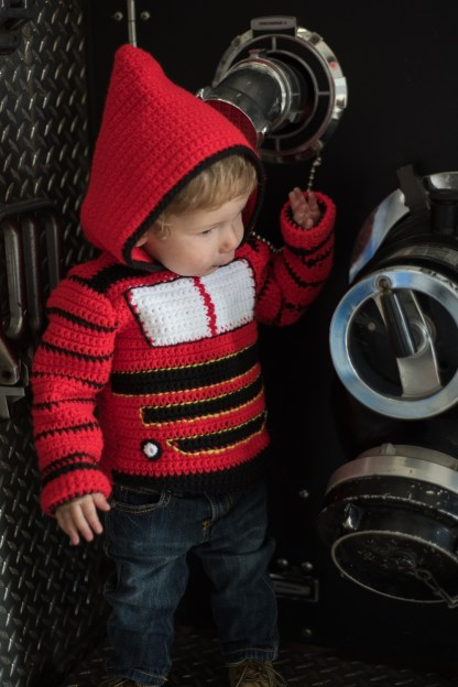 Train Engine Toddler Hoodie Crochet Pattern, Sizes 2 and 4
