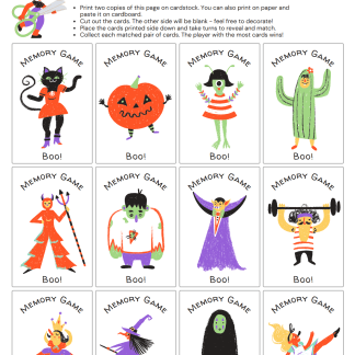 Halloween Activity Page