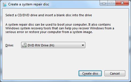 Windows repair Disc untuk memperbaiki Windows yang Error
