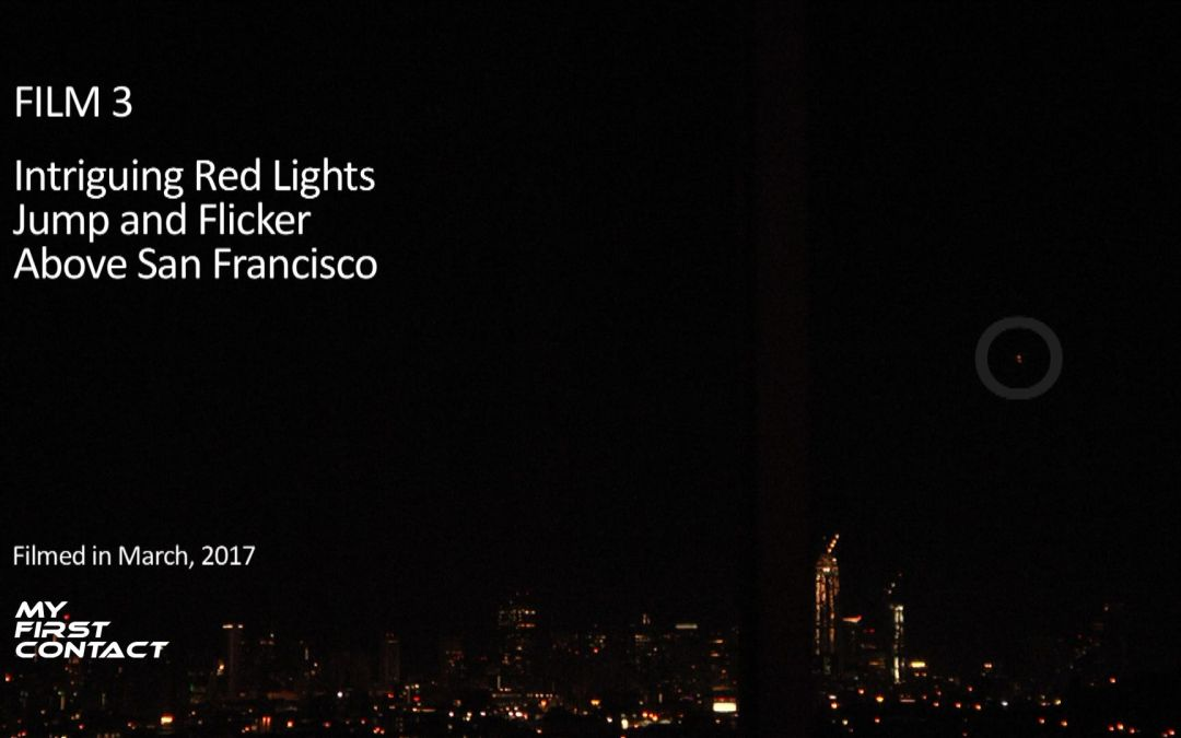 Film 3: Intriguing Red Lights Jump and Flicker Above San Francisco