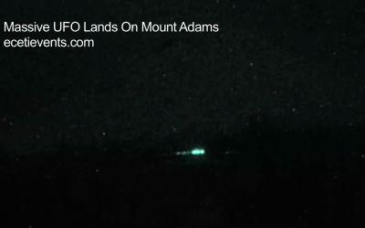 Massive UFO Lands At Mount Adams