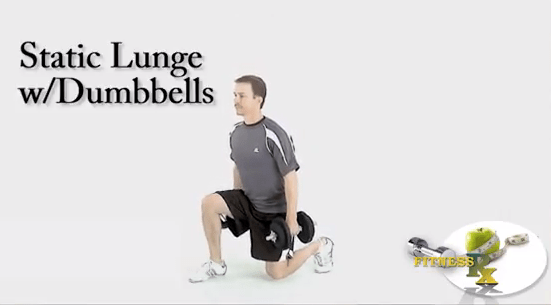 Static Lunges with Dumbbells