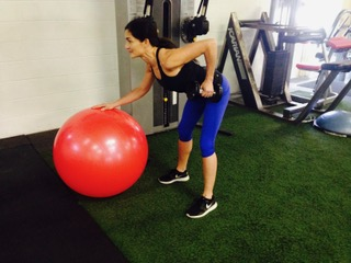 stability ball row - fit tip