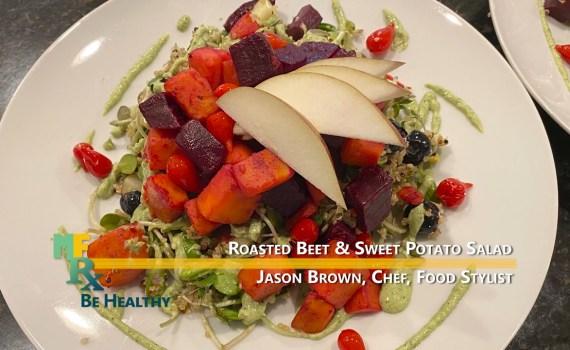 roasted beet & sweet potato salad