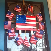 Easy door decoration for the Fourth of July