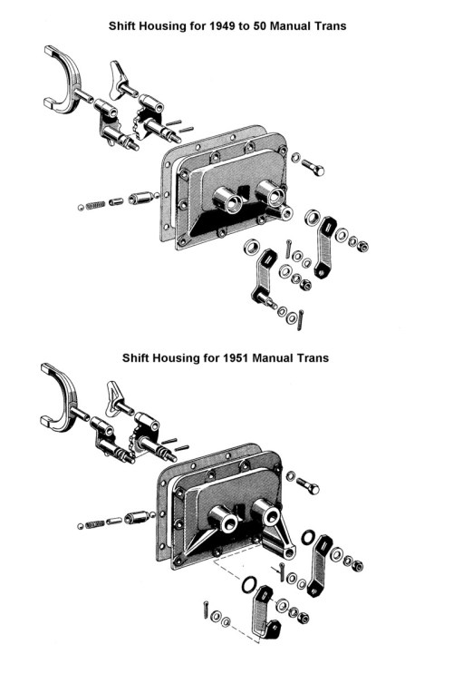 small resolution of gearshift housing for 1949 to 51 ford