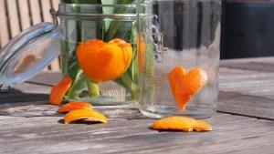 Orangenschalen receyceln
