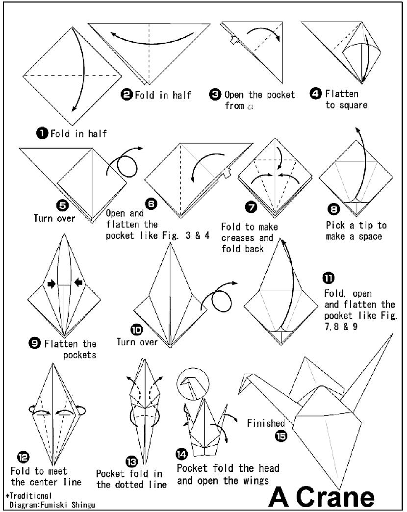 The classic Paper crane