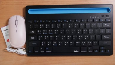 【aibo】藍牙一對二薄型鍵盤 + 2.4G無線靜音滑鼠-強悍又輕薄的無線生活