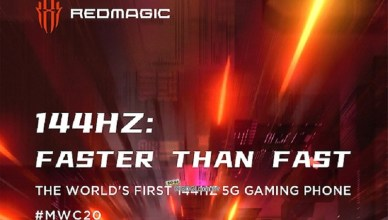 144Hz螢幕更新率 nubia紅魔5G遊戲手機月底線上發表