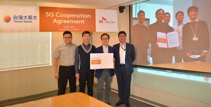 台灣大哥大宣佈與全球首家5G電信商SK電訊簽訂「5G顧問服務專案」合約