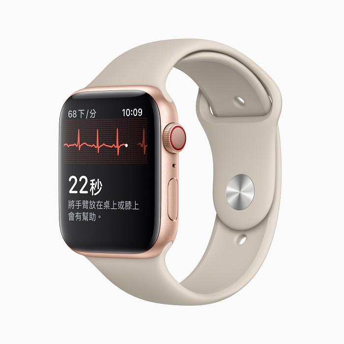 觸碰 Apple Watch Series 4 與後續錶款上的數位錶冠,即可連通電路,並測量整顆心臟的心電訊號