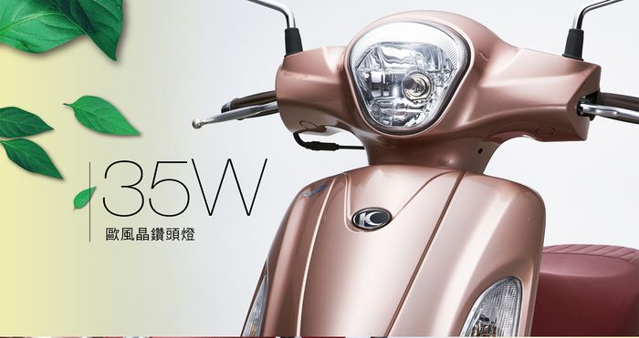 35W歐風晶鑽頭燈