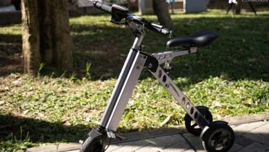 CARSCAM K 型智能三輪折疊電動車,城市中我的懶人代步好工具!