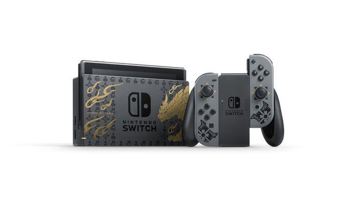 任天堂 Nintendo Switch 魔物獵人 崛起 特別版主機組合