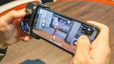 開箱FlashFire BT9000手機專用遊戲控制藍牙手把,實體按鍵手遊操作順暢,不再卡卡遮擋畫面!