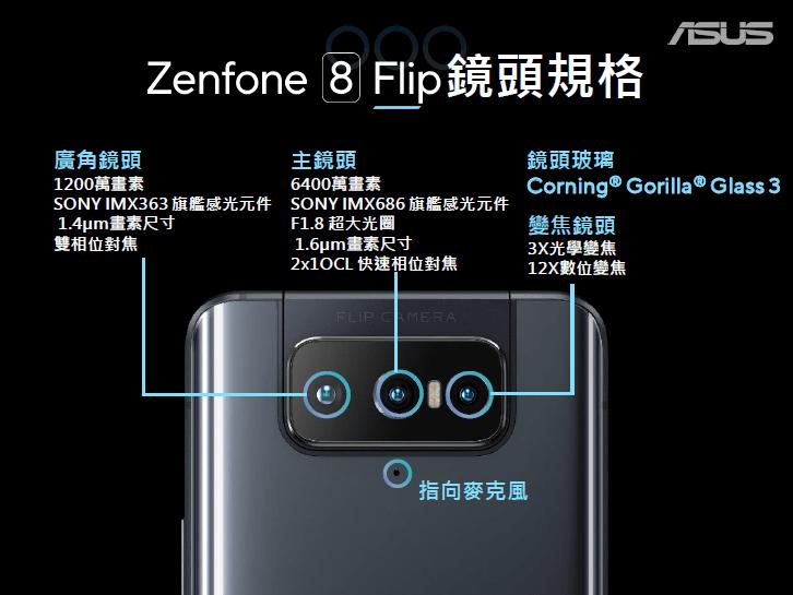 ASUS Zenfone 8 Flip 鏡頭規格