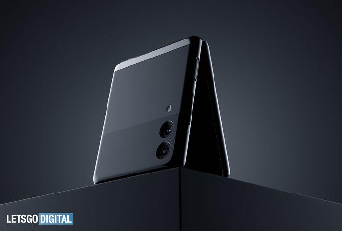 三星 Z Flip 可折疊手機折疊處有雙鏡頭相機