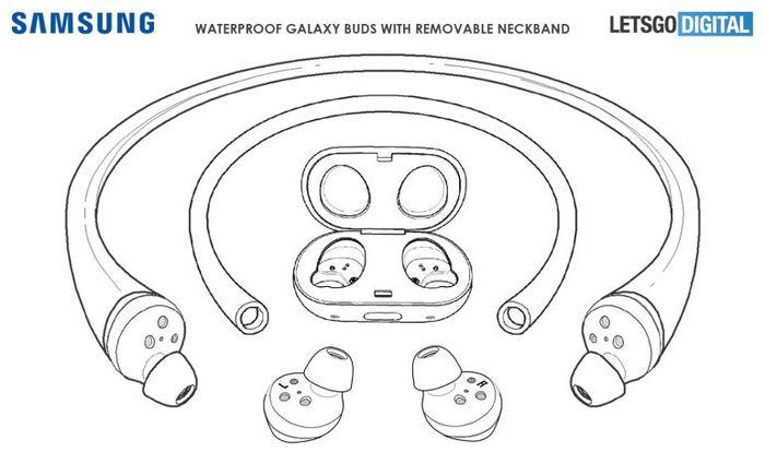 頸掛式Samsung Galaxy Buds 無線耳機