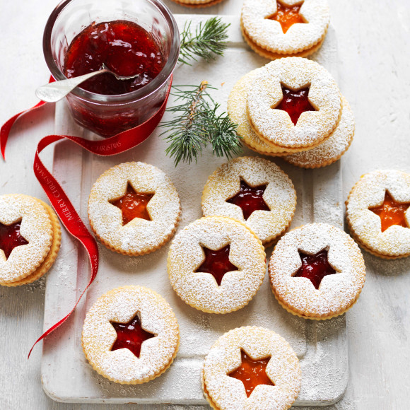 Jam Christmas Shortbread Biscuits Recipe Myfoodbook