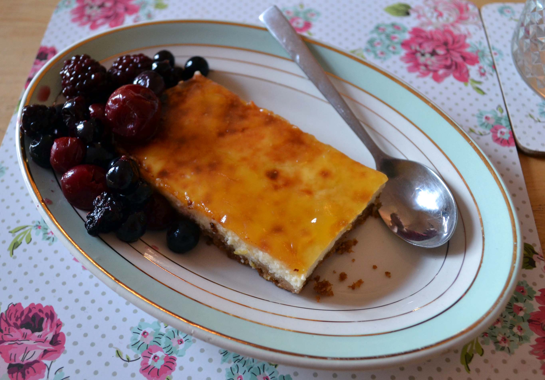 recipe 60 healthy quark baked lemon cheesecake my food challenge