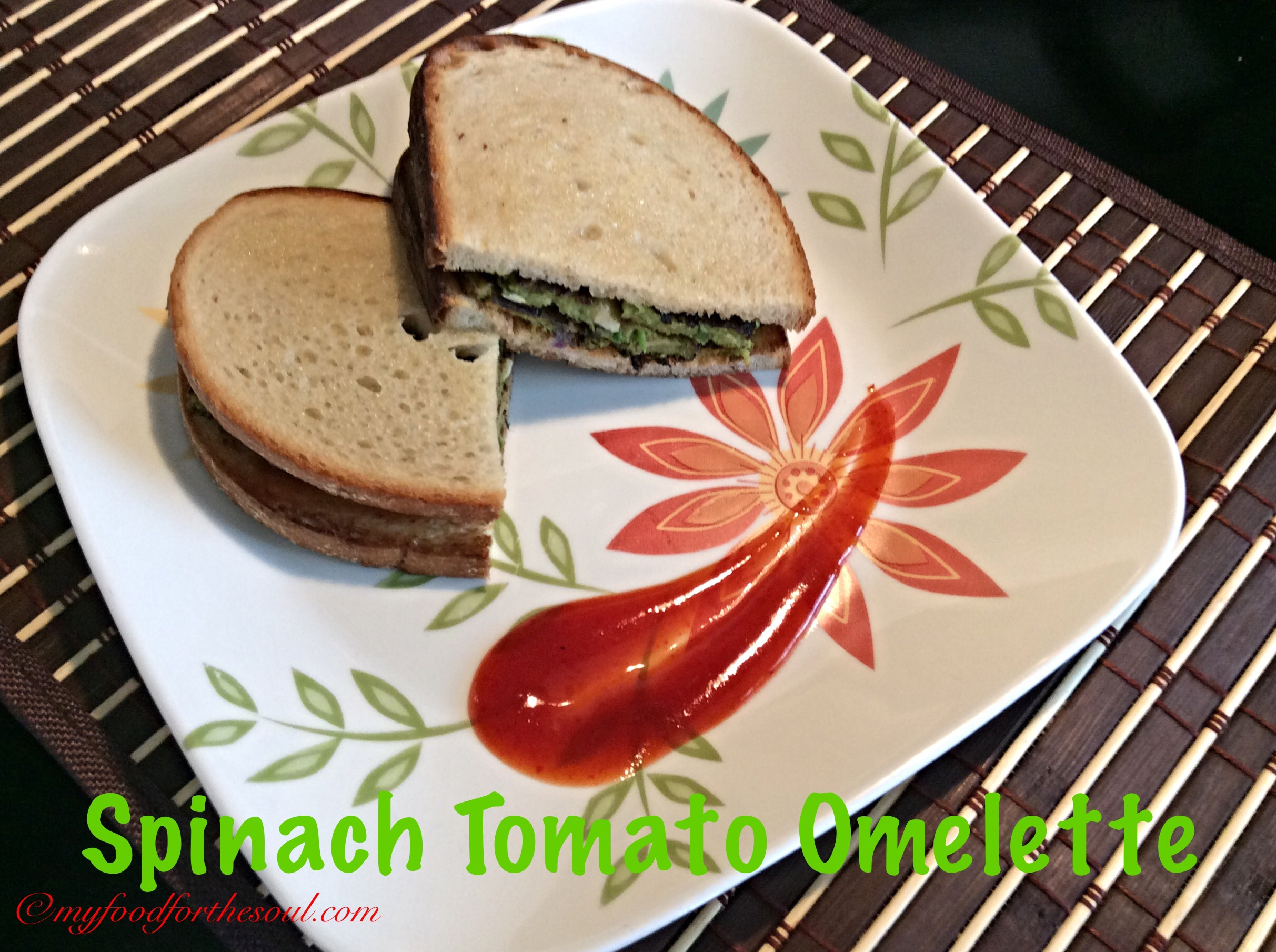 how to make a spinach and tomato omelette