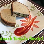 Spinach Tomato Omelette (Eggless)