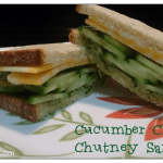 Cucumber Cheese Chutney Sandwich