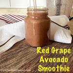 Red Grape Avocado Smoothie