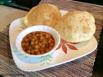 Traditional Chole Bhature