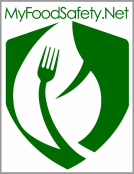 The logo for MyFoodSafety.net homepage Food Industry and Food Safety information hub.