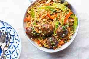 One Pan Veg Noodle and Manchurian Stir Fry (Indo Chinese)