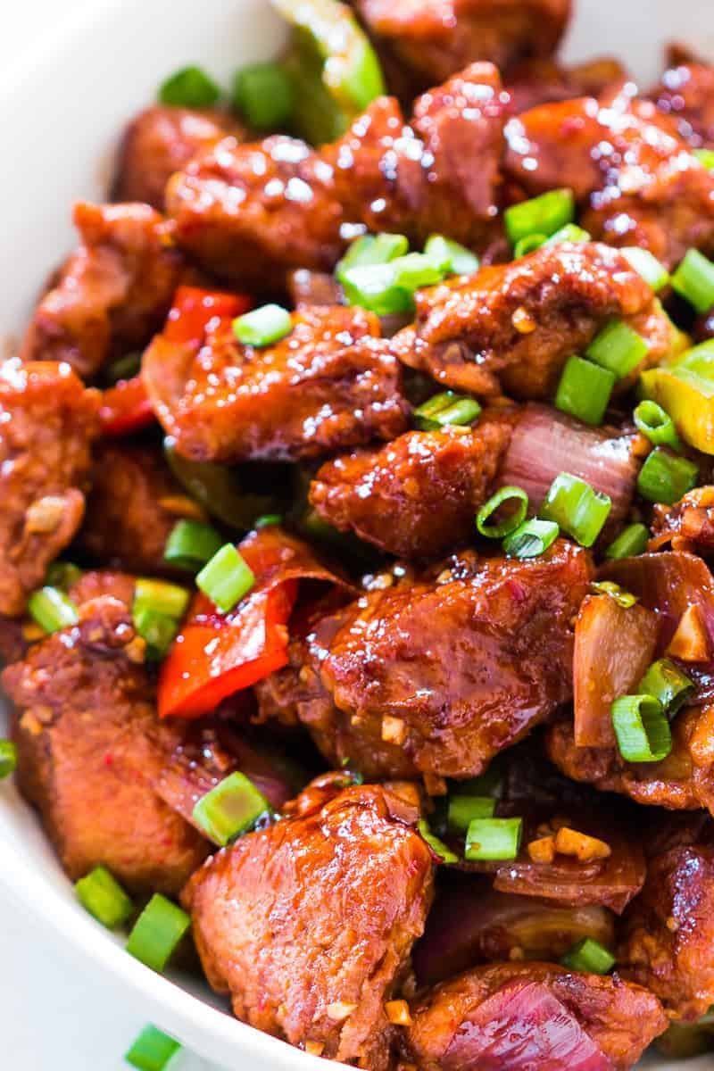 Easy Indo Chinese Chilli Chicken Dry - My Food Story