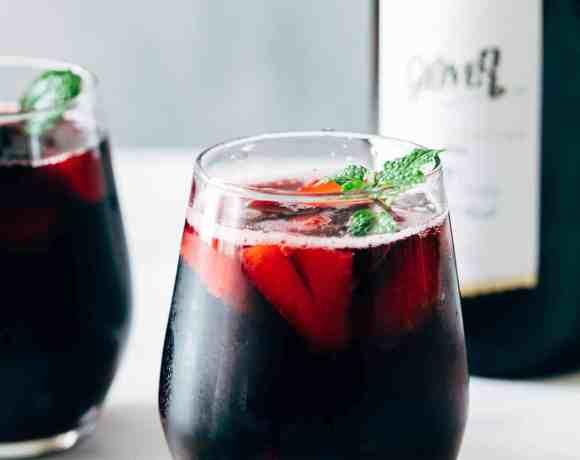 Summer Berry Red Wine Spritzer