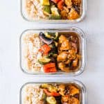 Teriyaki Chicken Stir Fry Meal Prep Lunch Boxes