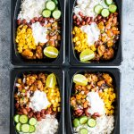Easy Chicken Burrito Meal Prep Bowls (Gluten Free)