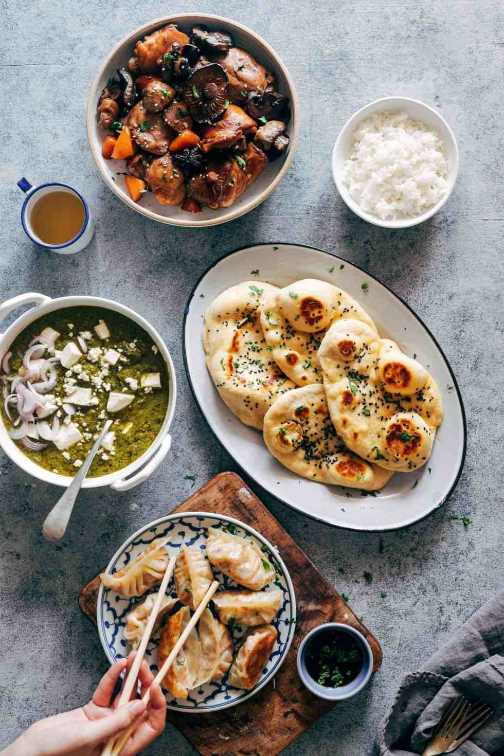 These vegetarian gyoza potstickers are stuffed with a delicious mixture of carrot, shiitake mushrooms and paneer and are insanely ease to make! Don't be intimidated because I have step by step instructions for you to make them at home.