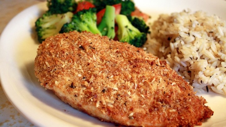 Baked Breaded Garlic Chicken
