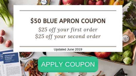 $50 Coupon Code for Blue Apron